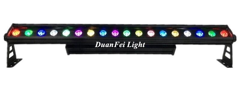 20 lotes de lámpara de pared para proyector al aire libre 18 piezas 10 vatios 4in1 rgbw arandela de pared fachada iluminación de lavado LED bar pixel dot efecto luz