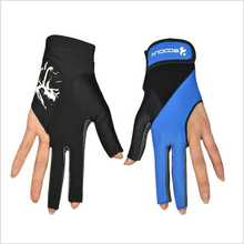 1 pièce Boodun billard piscine tireurs 3 doigts mains gauche gants Lycra billard gant Snooker instruments billard accessoires
