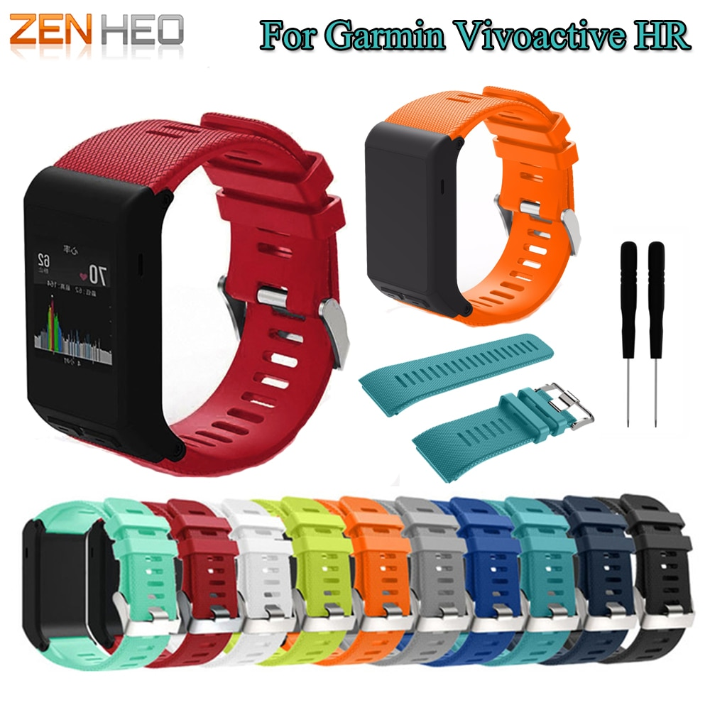 Sport WatchBand for Garmin vivoactive HR Watch Band Fashion Soft Silicone Replacement Bands Strap for Garmin vivoactive HR Strap for garmin vivoactive hr sport silicone wrist strap bracelet strap watch band for garmin vivoactive hr replacement band bangle