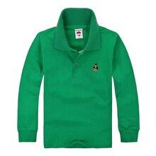Hohe Qualität Kinder Jungen Polo Shirts Marke Für Kinder Mädchen Casual Shirt Langarm Baumwolle Weiß Gelb Farben