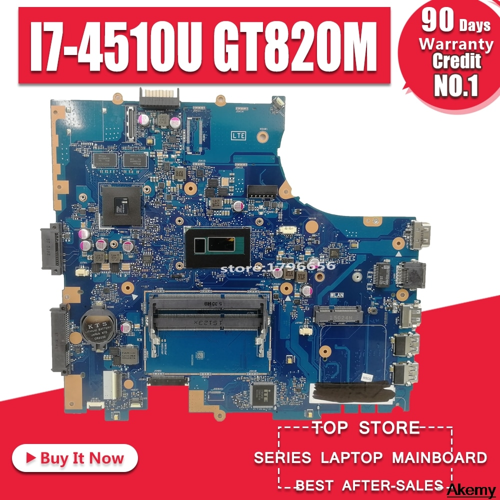 Placa base de Computadora Portátil For Asus PRO551L PU551LD PU551LD PU551LA PU551L P551L placa base teste bien REV2.0 I7-4510U GT820M