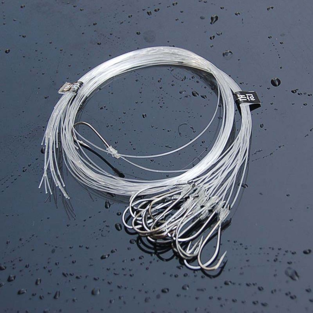 20/28 pièces tête de gabarit hameçons ligne attaché appât en acier au carbone crochet de pêche accessoires