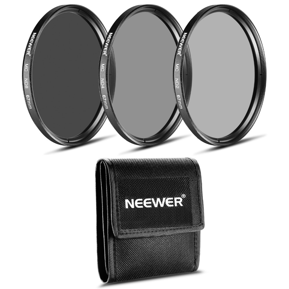 Набор фильтров Neewer ND (ND2 ND4 ND8)+ салфетка для очистки объектива CANON 18-135 мм EF-S IS STM/NIKON 18-105 мм f/3,5-5,6 AF-S DXVR ED