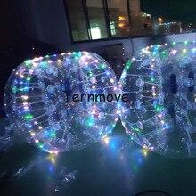Boule de bulle de corps déclairage de led, boule de butoir dair, costume gonflable de ballons de football de bulle de PVC de jeu humain et balles bouclées folles