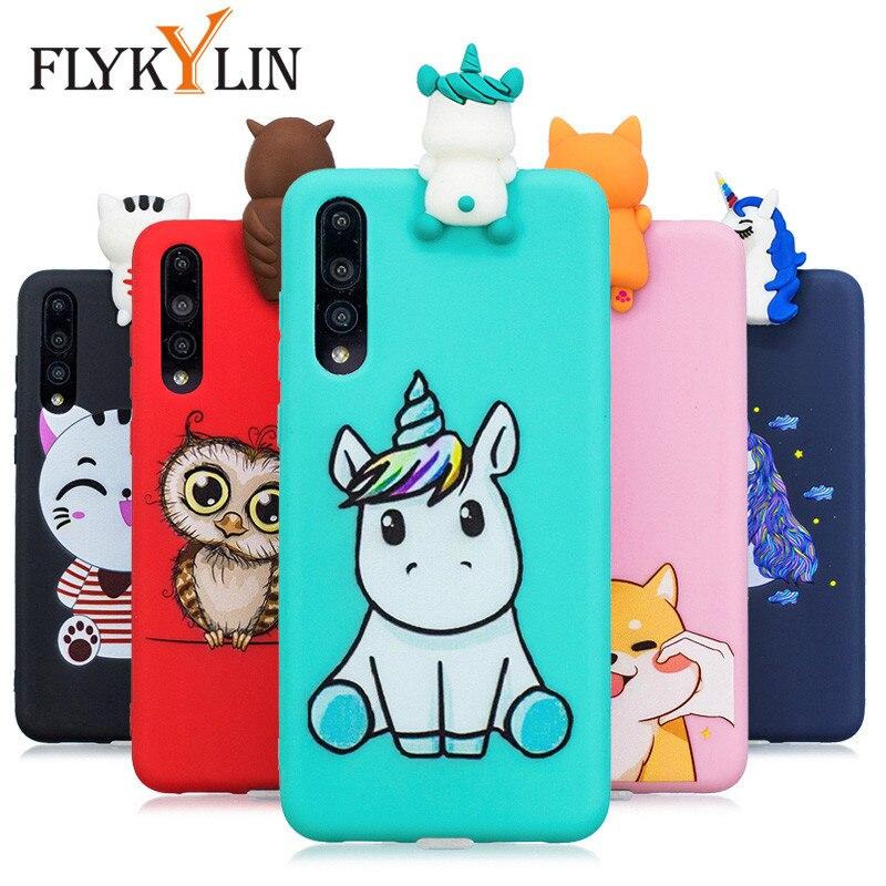 Funda de silicona suave FLYKYLIN para Huawei P30 Lite funda para Huawei P20 Pro P10 Lite funda en P8 Lite 2017 Capa dibujos animados 3D juguetes Coque