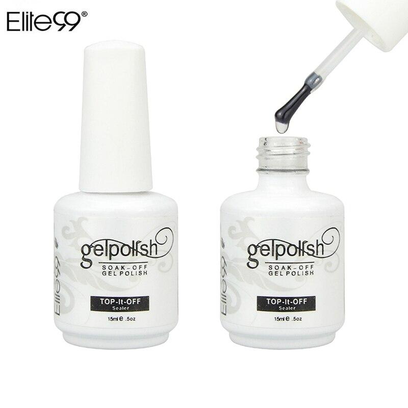 Гель-лак Elite99, 15 мл, УФ-Гель-лак для ногтей, блестящий Профессиональный защитный прозрачный УФ-гель для ногтей