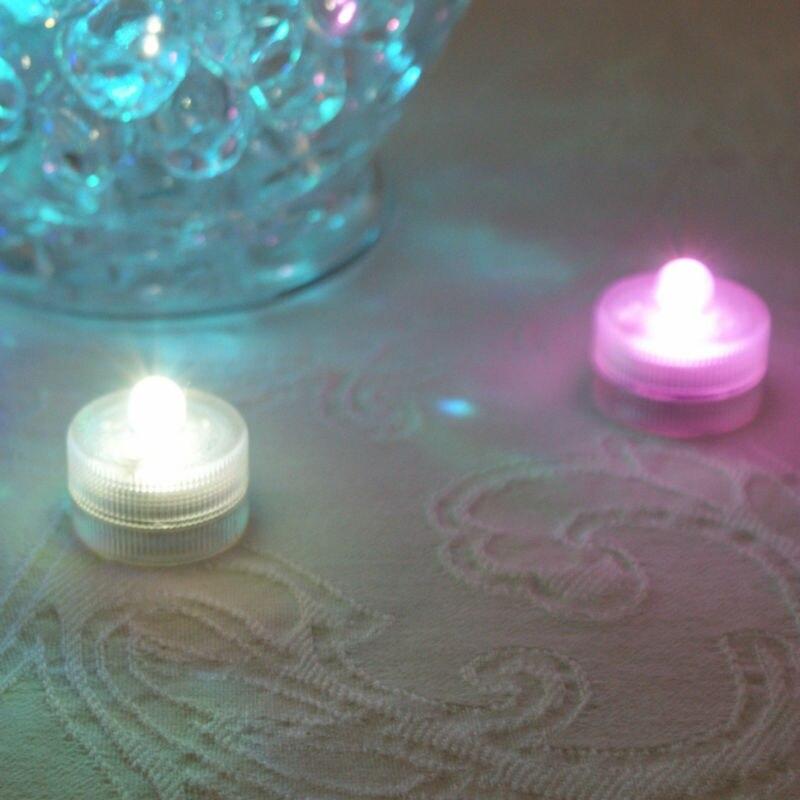 ¡Súper! 100 unids/pack Multi-fábrica de colores Venta Directa decoración de Halloween pequeña operada por batería LED impermeable luz de vela