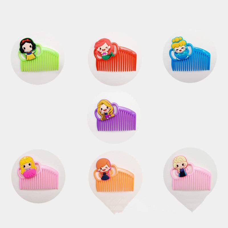1 Uds cepillo de pelo bonito para niñas princesa Elsa peine blanco nieve rosa para niñas peines de pelo de señora tacto cómodo maquillaje de belleza