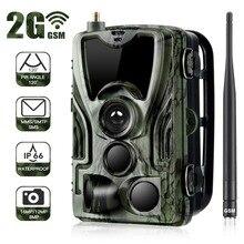 كاميرا فيديو HC801M 2G MMS/البريد الإلكتروني/الرسائل القصيرة بدقة 16 ميجابكسل 1080P تعمل بالأشعة تحت الحمراء مزودة بخاصية الرؤية الليلية كاميرا تصوير مصيدة للتصوير للتصوير والصيد