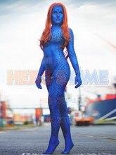 X-men Film Mystique 3D impression Cosplay Costume bleu imprimé Spandex Halloween Cosplay Costume