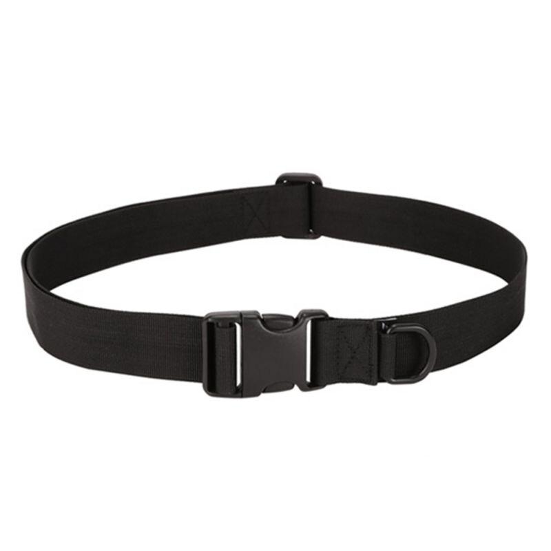 Unisex táctico sólido cinturón equipo de desgaste bolsa interior de Nylon bolsa de los Fans militares adjunta cinta de fijación de cinturón