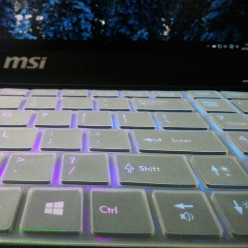 Teclado del ordenador portátil cubierta piel Protector para Msi Cr720 Cx620 Cx620Mx Cx623 Cx705 Cx705Mx Cx720 teclado español Tecaldo 15 Tpu 17