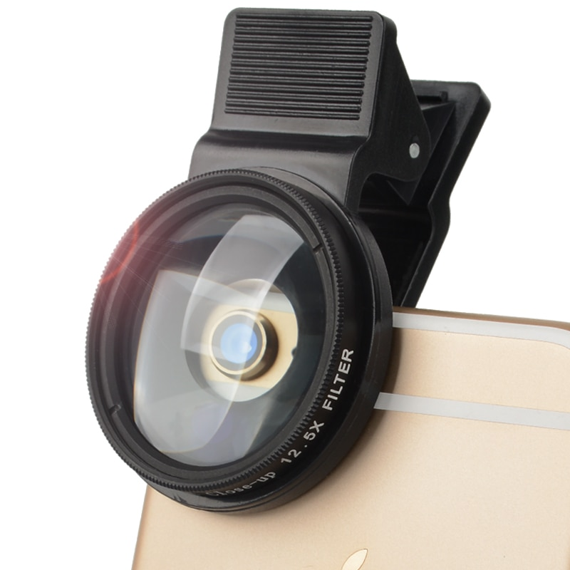 Filtro Zomei Pro para teléfono móvil 37mm 12,5 x Close Up Macro filtra lente de teléfono móvil con clip para filtros universales de iPhone