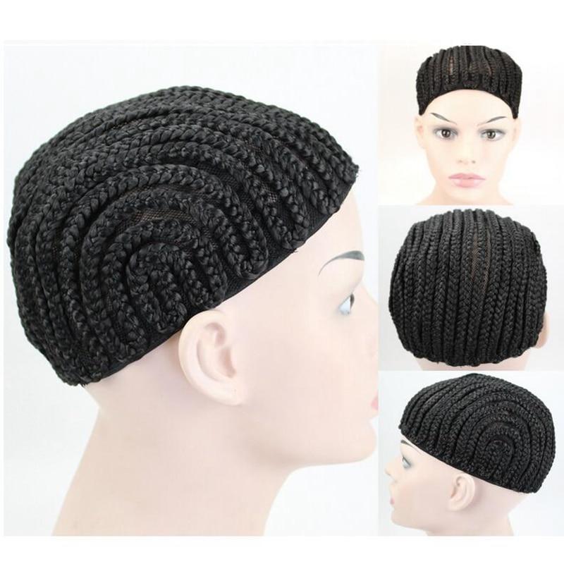 1pcs Black Super Elastic Cornrow Cap For Weave Crochet Braid Wig Caps For Making Wigs Top Quality Weaving Braid Cap Wig Net