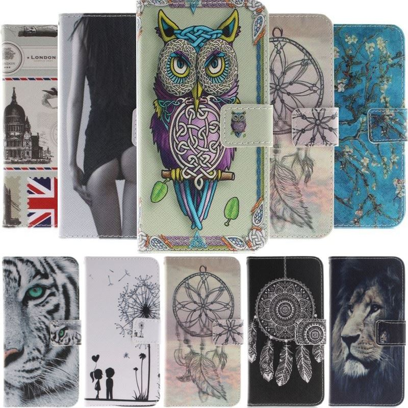 Funda bonita de estilo Animal para iPhone X de Apple Xs Max Xr 6 6s 7 8 Plus Funda De León Tigre pintado Cartera de bolsillo de tarjeta cubierta de soporte DP26F