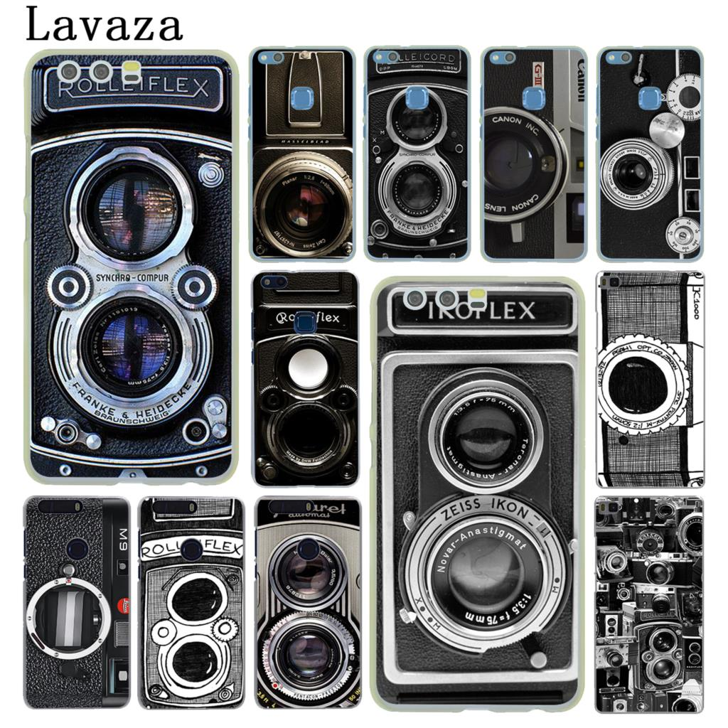 Винтажный жесткий чехол для камеры Huawei P30 P20 Pro P9 P10 Plus P8 Lite Mini 2016 2017 P smart Z 2019