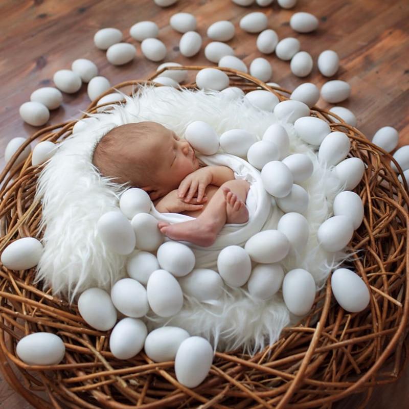 Accesorios para fotografía de bebés recién nacidos, simulación de madera, huevos, accesorios para sesión de fotos de niños y niñas, accesorios para estudio, accesorios para fotografía de bebés