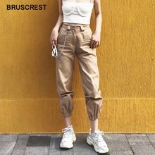 Printemps vintage chaîne noir cargo pantalon femmes taille haute pantalon joggers baggy pantalon femmes streetwear grande taille