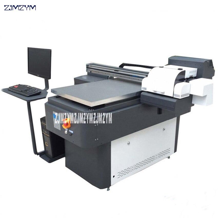 Impresora Digital UV impresora automática Multicolor NDL-6090 DX10 cabezal plano impresora para bolígrafo, tarjeta, carcasa de teléfono móvil, pelota de Golf