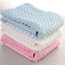 Fleece Baby Sheet Blanket 76*102cm Newborn Baby Wrap Soft Winter Baby Bedding Receiving Blanket Manta Bebes Sleeping Bag