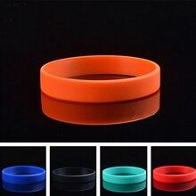 10 pièces unisexe à la mode en caoutchouc de Silicone Flexible Bracelet poignet bande poignet Bracelet Bracelet pour femmes hommes bandes Bracelet équipe jeu