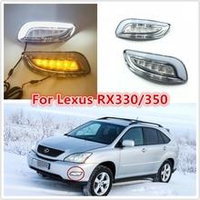 Un jeu de feu antibrouillard pour Lexus   DRL RX330 RX350 2003 2004 2005 2006 2007 2008 2009, phare de la lumière du jour avec signal étanche