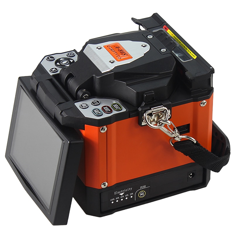 COMPTYCO A-80S التلقائي ذكي انصهار الألياف البصرية جهاز الربط FTTH الألياف لحام الانصهار جهاز الربط