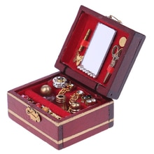 Mini boîte à bijoux, miniature pour poupée, 1 pièce, maison de jouet, accessoires 112