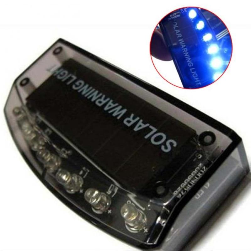 Солнечное автомобильное зарядное устройство, 6 светодиодных датчиков, охранная сигнализация, светодиодная система безопасности, предупреждающая о краже, мигание, красный, синий цвет, для любого автомобиля