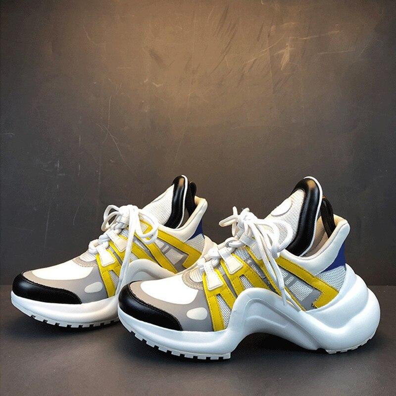 Женские кроссовки на каждый день, на платформе, со шнуровкой, разных цветов, модные, дышащие, спортивные