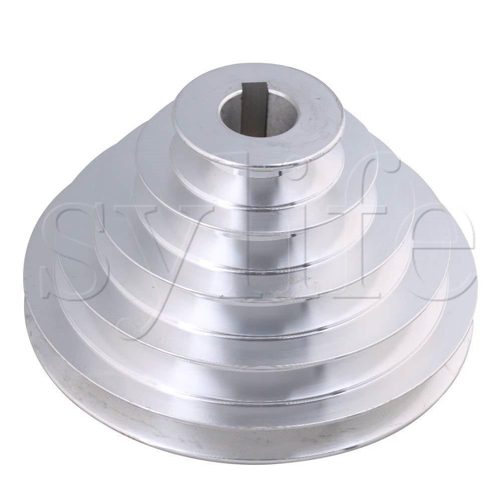 24 мм диаметр 54 мм-150 мм Outter Dia Алюминий 5 слотов A Тип v-образная пагода шкив 5 ступенчатый шкив ремень 12,7 мм Ширина ремня