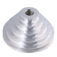 Mèche en forme de V 24mm   Alésoir en aluminium 5 fente A Type pagode en V poulie à 5 étapes largeur de la courroie 150mm