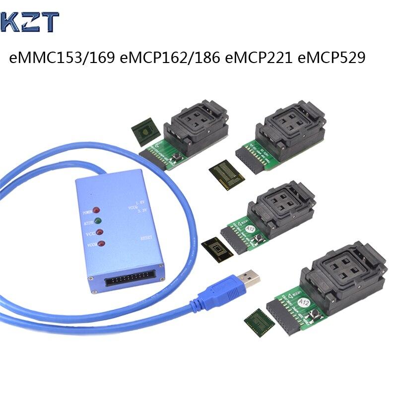 مقبس اختبار عالمي EMMC153/169 eMCP162/186/221/529, يدعم العديد من رقائق eMMC المختلفة