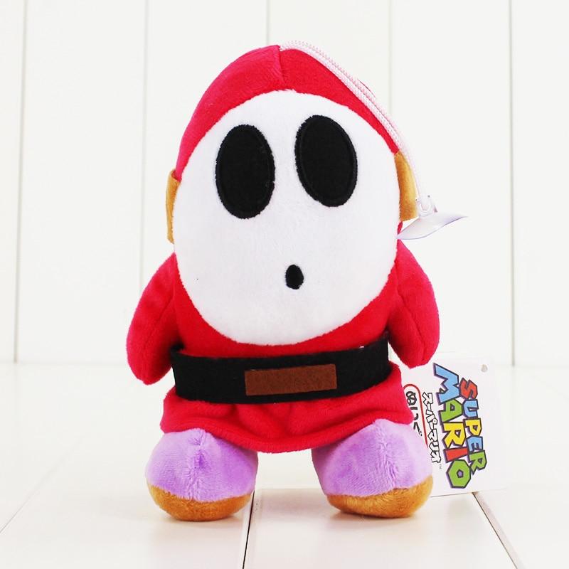 16cm Super Mario Bros, Mario juguetes de peluche chico tímido de peluche de felpa suave muñeco de acción figuras juguetes y regalos de los niños