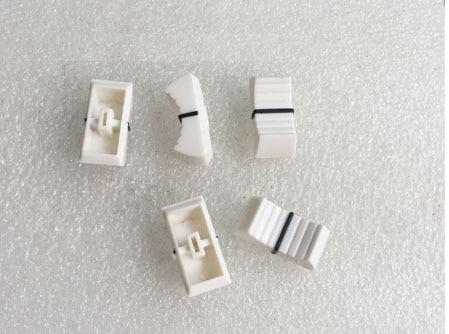 10pcs white Mixer Dimming table Straight Slip Potentiometer Fader Knob Cap /  Fader Cap white 4mmPush /Button Cap 4mm Hole