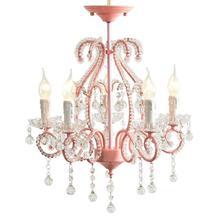 Candelabro de cristal para niños, Sala de bodas rosa, dormitorio, restaurante Pastoral romántica, princesa Nórdica