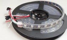 Changer la couleur rgb LED bande WS2812B ic DC5V 60 pixels/M 60IC/M IP67 LED rgb imperméable bande SMD 5050 flexible ruban LED