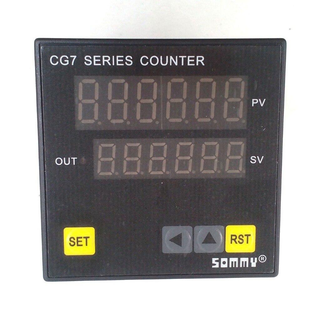 Saída de relé de contagem de 6 dígitos do contador da multi-função da série de CG7-RB60 coutters digitais cg