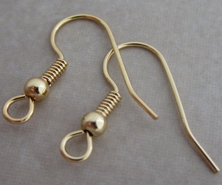 Calidad Superior 100 unids/lote 316l gancho de acero inoxidable pendiente gancho de oreja cierre con cuentas encantos joyería hallazgos para DIY moda caliente