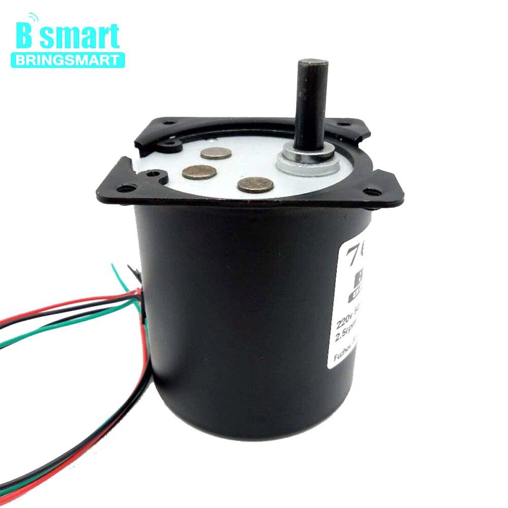 Motor de engranaje magnético permanente 220V 70KTYZ Motor sincrónico 2,5-110 rpm Motor reductor de velocidad inversa para barbacoa, mesa, etc.