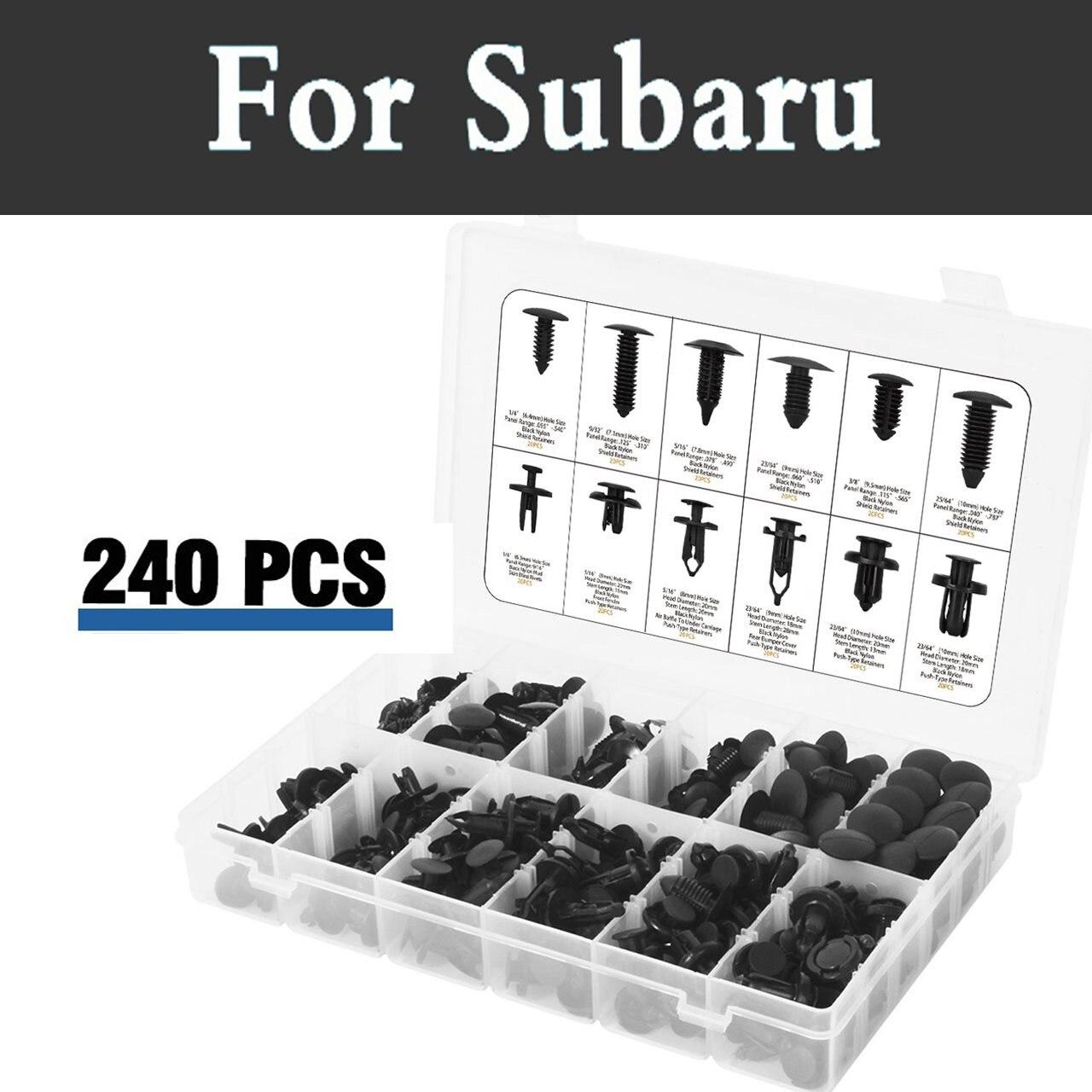 240 piezas de estilo Clips surtido + cierre removedor + Clip de Juego de alicates para Subaru Legacy Lucra interior Pleo R1 r2 Trezia Tribeca