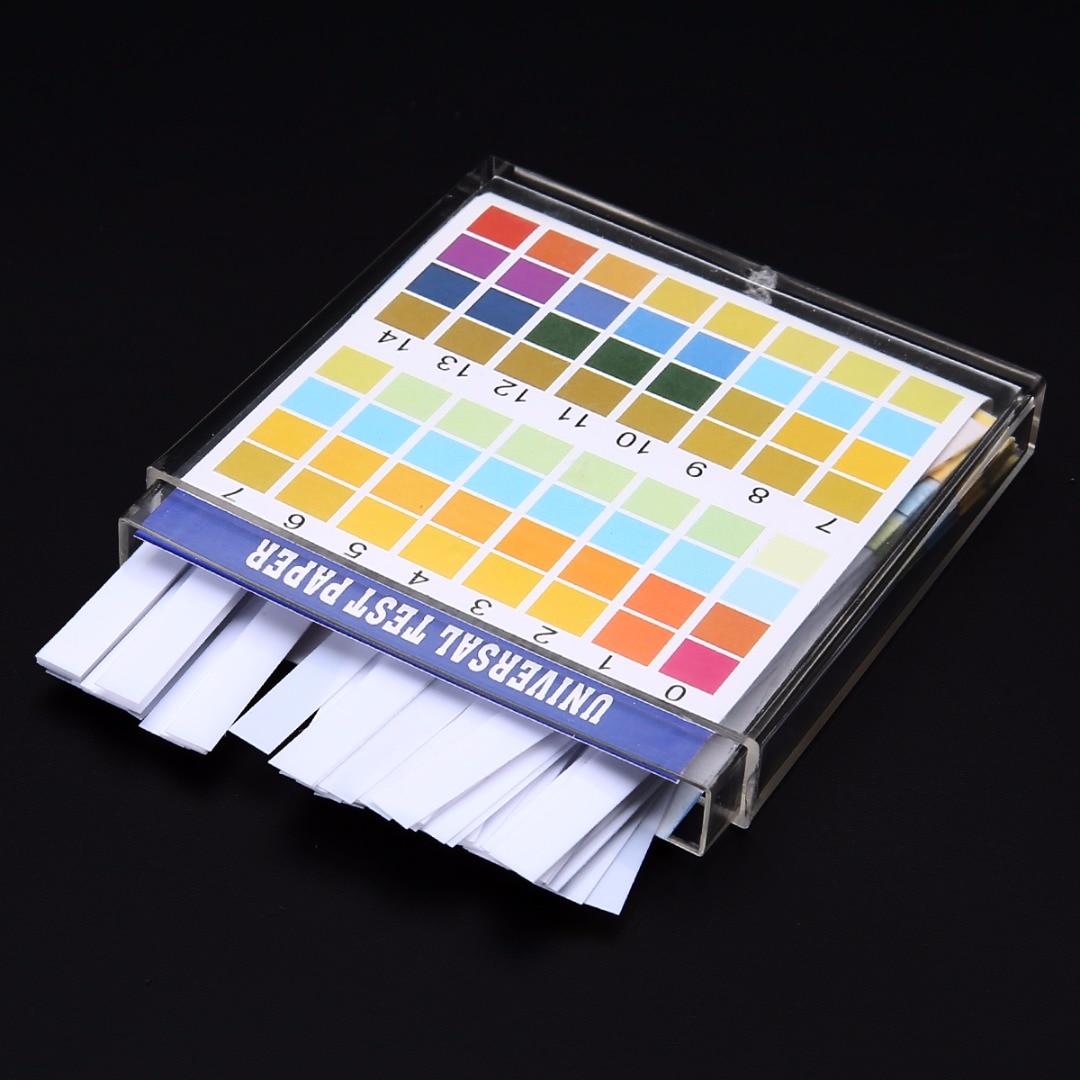 100 Strips/Set 0-14 PH Test Kit Alkaline Acid Indicator Paper Water Saliva Litmus Tester Mayitr Meas
