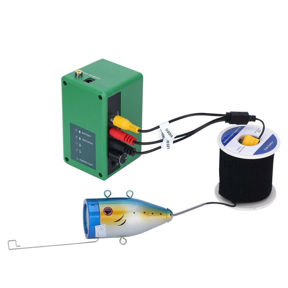 GAMWATER  9 Inch DVR Fish Finder 1000TVL Underwater Recording Fishing Camera 15pcs White LEDs plus 15pcs Infrared Lamp enlarge