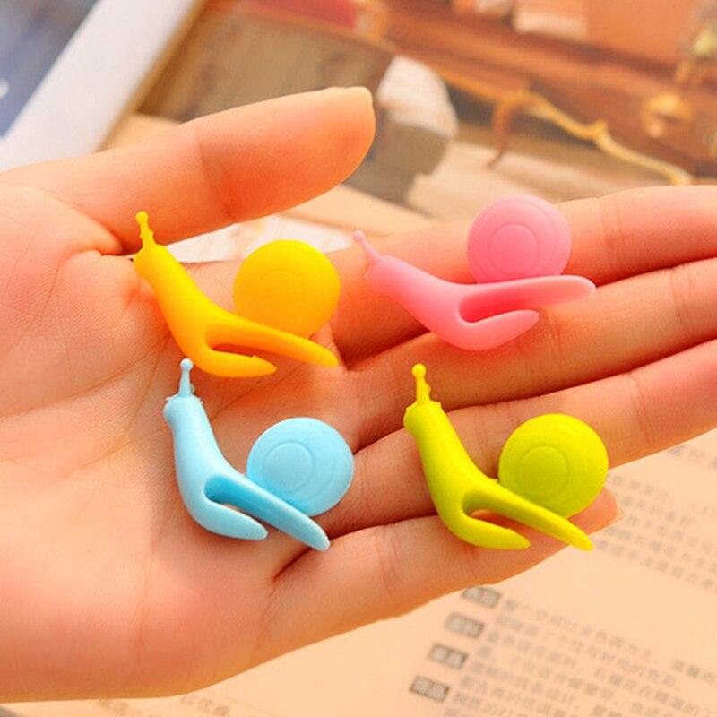 5PCS/Set Cute Snail Shape Silicone Tea Bag Holder Cup Mug Hanging Tool Tea Tools Randome Color BA