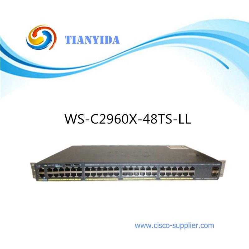 Catalizador apilable Gigabit 10/100/1000 Mbps interruptor WS-C2960X-48TS-LL