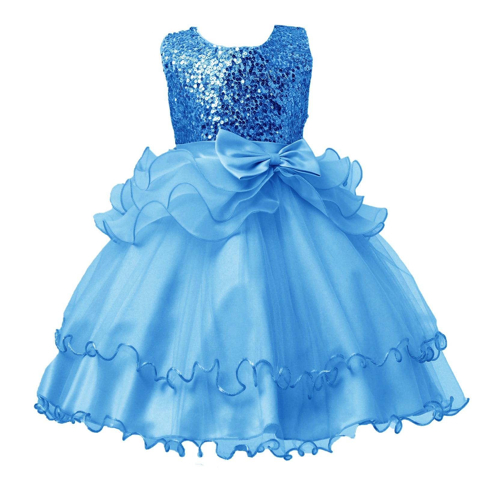 2019 новая весна детское платье принцессы с блестками бантом свадебные для девочек в цветочек на день рождения платья для девочек 3 4 5 7 9 11 13 ле...
