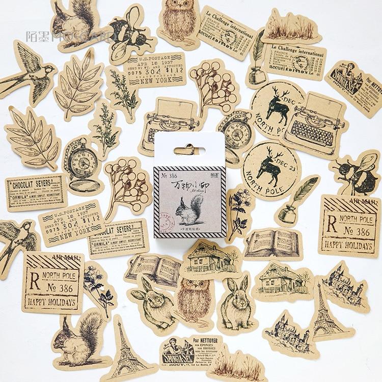 45-pz-pacco-carino-animali-della-foresta-adesivi-stickers-adesivi-fai-da-te-decorazione-del-mestiere-di-scrapbooking-adesivi-del-regalo-della-cancelleria