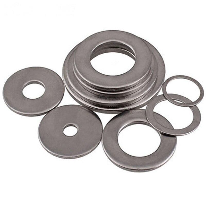 Arandelas planas de acero inoxidable ultradelgadas M6 arandela de lavadora grosor de la almohadilla plana 0,1mm-1mm 7mm-20mm diámetro exterior