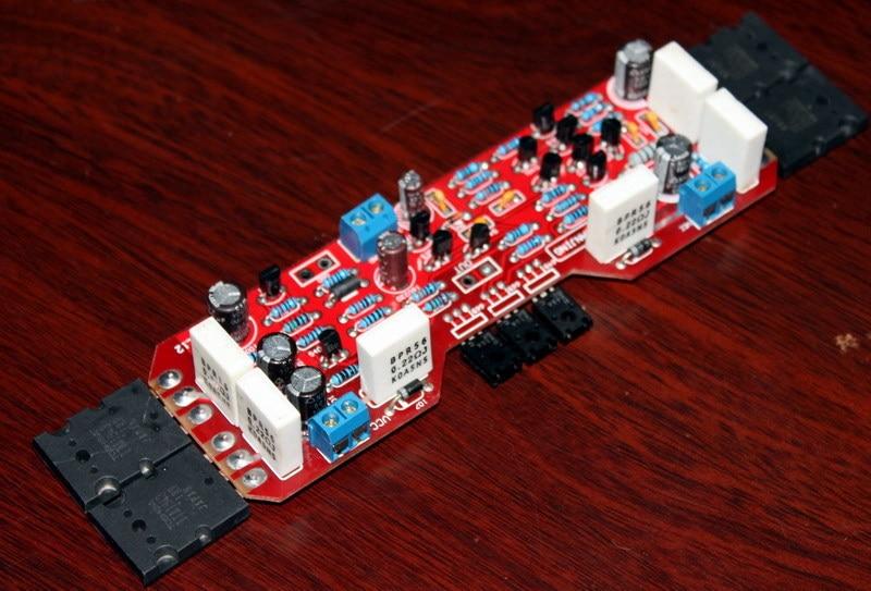 8 ohmios 120 W L12 tablero amplificador (Toshiba Placa de tubo) terminado mono amplificador placa usando original A1943 C5200 IC