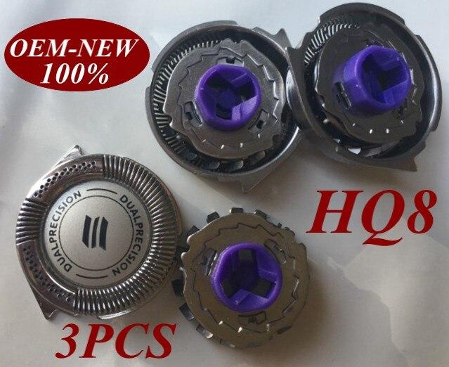 3 uds repuesto nuevo máquina de la hoja de afeitar para Norelco Philips HQ8 AT750 AT751 AT890 AT891 HQ7120 HQ7100 HQ7140 HQ7160 HQ7180